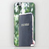 bible iPhone & iPod Skins featuring Holy Bible w/ bokeh by Hannah Chapman