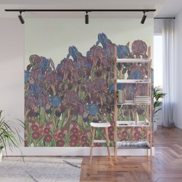 A glory of Irises Wall Mural