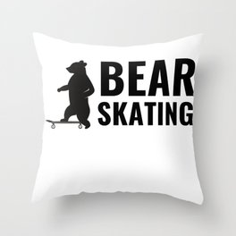 BEAR SKATING IS ALL THAT MATTERS Throw Pillow