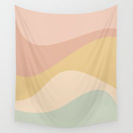 Abstract Color Waves - Neutral Pastel Wall Tapestry