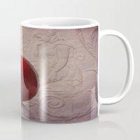 pomegranate Mugs featuring pomegranate by lucyliu
