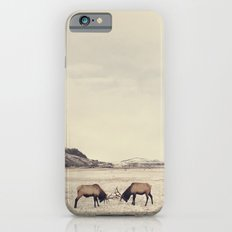 Sparring Elk in Wyoming - Wildlife Photography Slim Case iPhone 6
