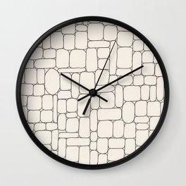 Stone Wall Drawing #3 Wall Clock