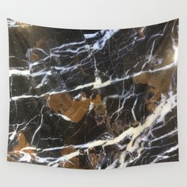 Stylish Polished Black Marble Wall Tapestry