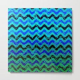 Waxy Waves Metal Print