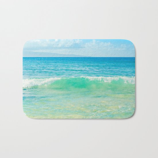 Ocean Blue Beach Dreams Bath Mat