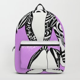 Two Orca Whales Tribal Pink Art Backpack