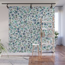 Greenapple Floral Print Wall Mural