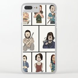 The Walking Dead 16 Character Collage Clear iPhone Case