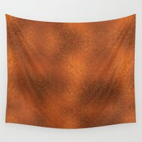 gold foil Wall Tapestries featuring Gold Foil Texture 4 by Robin Curtiss