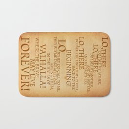 Viking Prayer Bath Mat