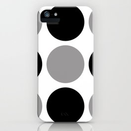 Mid Century Modern Polka Dot Pattern 9 Black and Gray iPhone Case