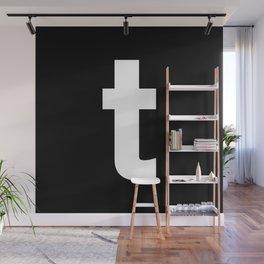 letter T (White & Black) Wall Mural