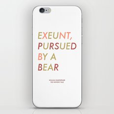 Shakespeare - The Winter's Tale - Exeunt Exit Pursued by a Bear iPhone & iPod Skin