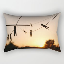 Swallows on a wire Rectangular Pillow