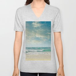beach love tropical island paradise Unisex V-Neck
