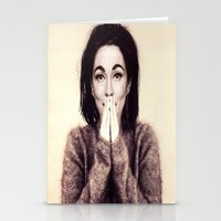 bjork Stationery Cards featuring Mommie Bjork by Wanker & Wanker