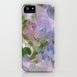 Water Color - hand-painted Heart-Whales - 02 multi-color pattern iPhone Case