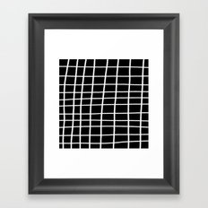 Hand Grid Large Black Framed Art Print