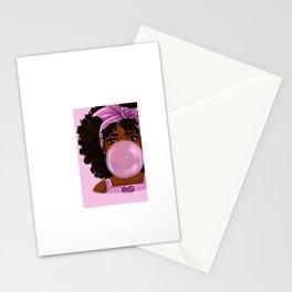 Bubble Gum Portrait Stationery Cards