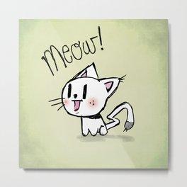 Soft kitty Metal Print