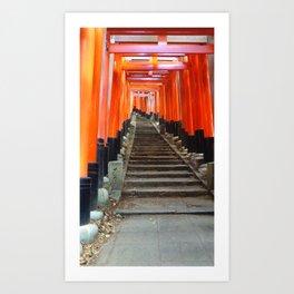 Fushimi Inari Gates Art Print