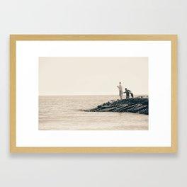 Galveston Jetties Framed Art Print