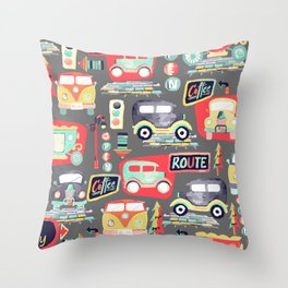 Travel Back in Time Throw Pillow