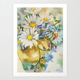 Daisies for daughter Art Print