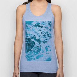 Deep Turquoise Sea - Nature Photography Unisex Tank Top
