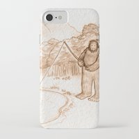 bigfoot iPhone & iPod Cases featuring Springtime Bigfoot by Monica Gallagher