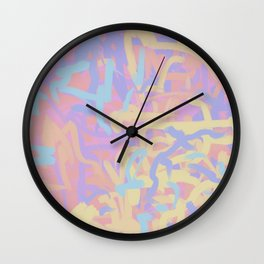 Pastel Pink Blue Purple Energy Abstract Wall Clock