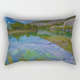 Views along Highway 16 E, Jasper National Park, Canada Rectangular Pillow