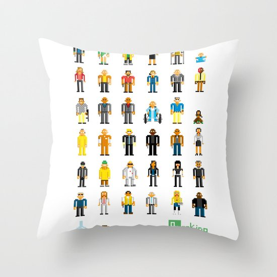 Breaking Bit Throw Pillow