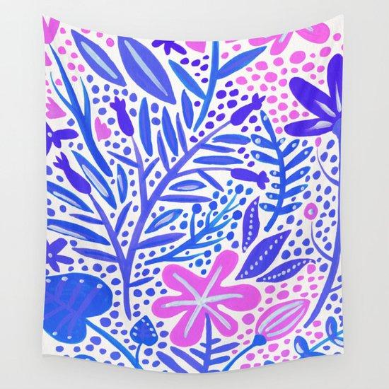 Garden – Indigo Palette Wall Tapestry