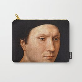 """Hans Memling """"Portrait of an unknown Man"""" Carry-All Pouch"""