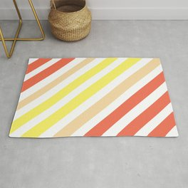 Red Yellow Lines Rug