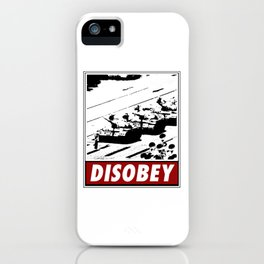 Tank Man- Disobey iPhone Case