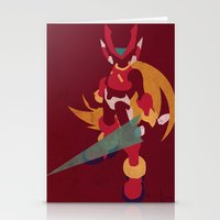 megaman Stationery Cards featuring Megaman Zero by JHTY