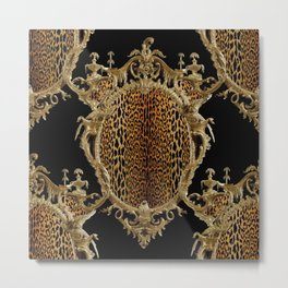 Leopard Chinoise Metal Print