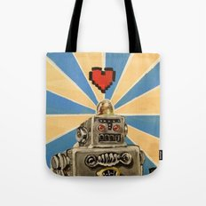 8 Bit Love Machine Tote Bag