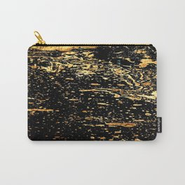 Black and a Gold Crow Carry-All Pouch