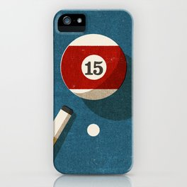 BILLIARDS / Ball 15 iPhone Case