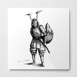 Samurai Fox Metal Print
