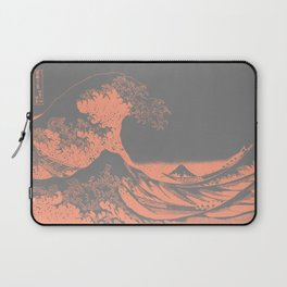 The Great Wave Peach & Gray Laptop Sleeve