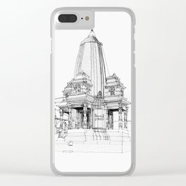 Traditional temple  in Kathmandu Clear iPhone Case