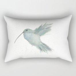 Hummingbird In Flight Watercolor Rectangular Pillow