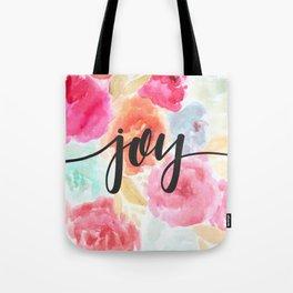 Watercolor Floral Joy Tote Bag