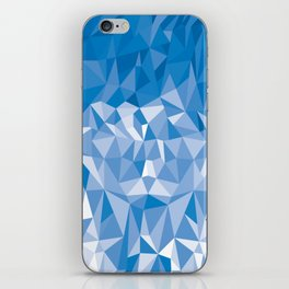 Geometric Low Poly Blue iPhone Skin