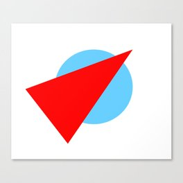 Compass: Blue and Red Canvas Print